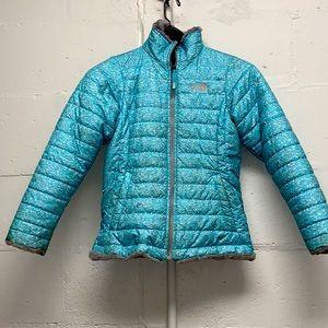 The NorthFace reversible girl's winter coat.